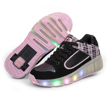 Fashion automatic boy girl children LED flash sports shoes breathable shoes