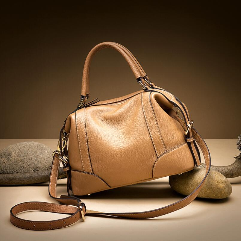 FoxTail & Lily Brand Designer Women Genuine Leather Handbags High Quality Real Leather Shoulder Bag Ladies Crossbody Shell Bags burminsa brand winter round saddle genuine leather bags smiley designer handbags high quality shoulder crossbody bags for women
