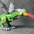 Электрические интерактивными динозаврами игрушки: говорящий и ходячий Огненный Дракон и динозавры для игр  детские игрушки  рождественски...