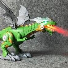 Электрические интерактивные динозавры игрушки: говорящий и ходячий Огненный Дракон и динозавры для игр, детские игрушки Рождественский подарок