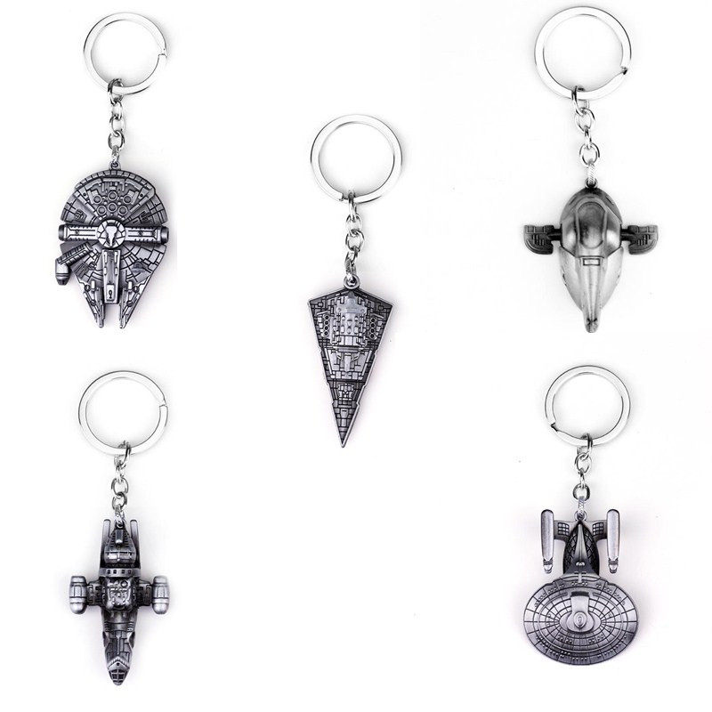 Fashion Star Wars Spaceship Keychain Cool Falcon Keyrings Alloy Pendant Keyring Man Jewelry Accessor
