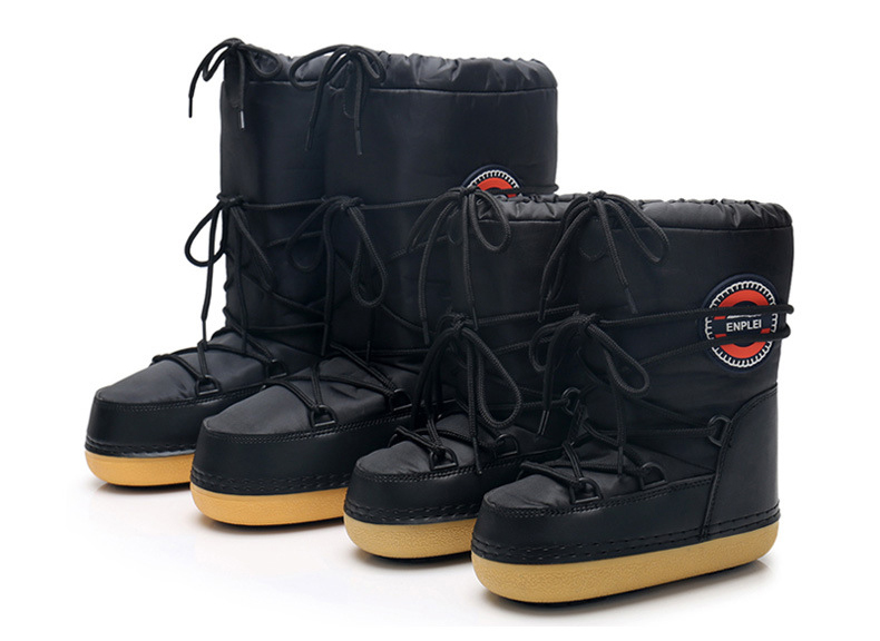 Women Snow Boots 2018 Waterproof Space Boots Warm Plush Winter Shoes ... e0dadc6f366f