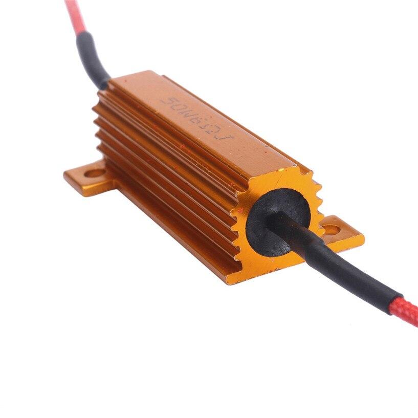 wupp 50W 6Ohm Car LED DRL Fog Turn Singal Load Resistor for Fix LED Bulb