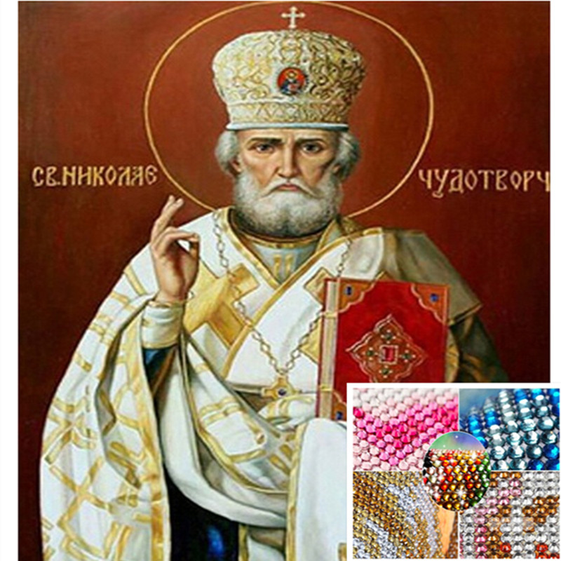30*40CM 5D DIY Religious Crystal Round Diamond painting Pharaoh Rhinestones Cross Stitch Kits diamond embroidery Icon diamond