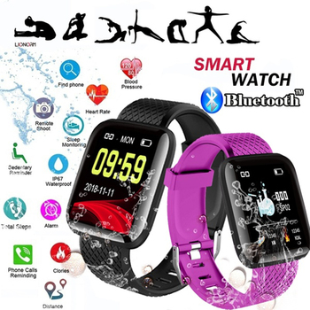 color screen smart bracelet 116plus heart rate 1.3 blood pressure A6S sleep waterproof USB direct charge live APP xanes a6s