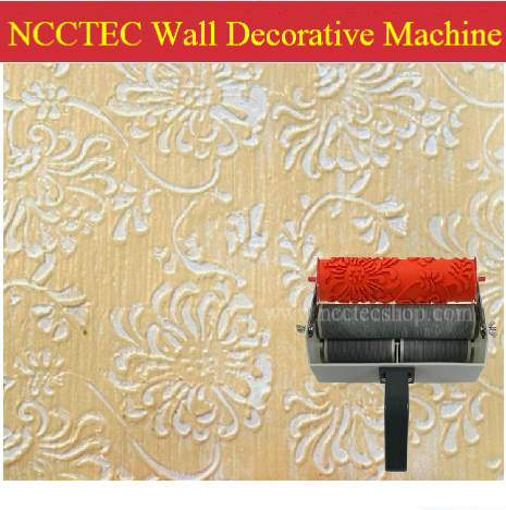7\'\' two double color wall paint decorative machine | Artistic roller ...