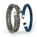 Crystal Bracelets for Women 2017 Luxury Famous Brand Jewelry Fashion Cuff Bracelets & Bangles Rhinestone Wrap Stardust Bracelet