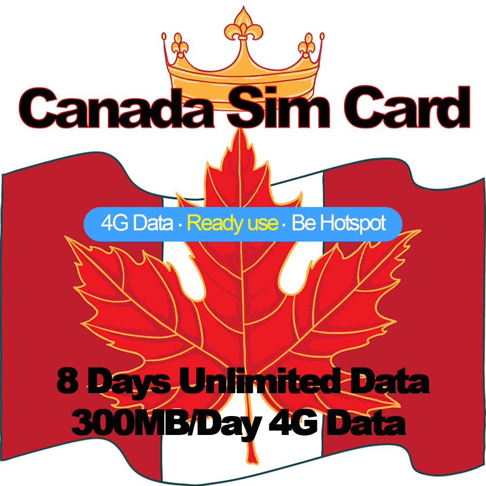 Mewfi Prepaid Canada Travel Sim Card 8 Days Unlimited Data 300MB/Day 4G Data Bell Mobility Network Triple Mobile Phone Sim CardMewfi Prepaid Canada Travel Sim Card 8 Days Unlimited Data 300MB/Day 4G Data Bell Mobility Network Triple Mobile Phone Sim Card