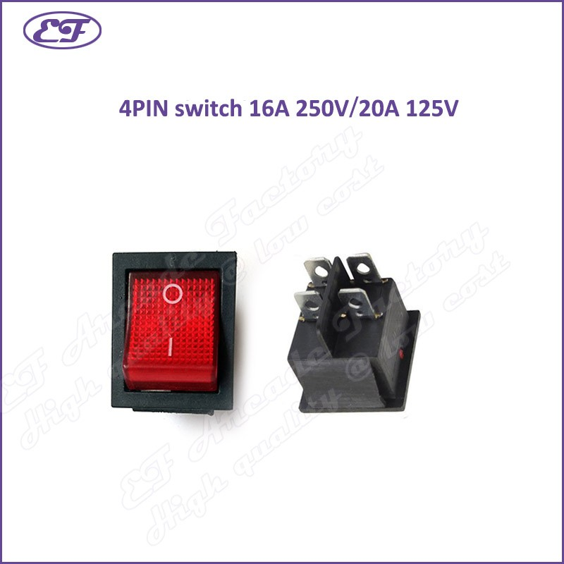 Free shipping ON/OFF switch Red Mini 4Pin 2Position DPST On/Off ...