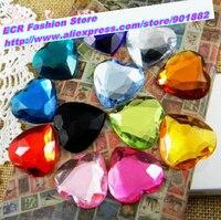 10,000pcs/Bag 6mm Heart Shape Flat Back Round Acrylic Beads / Stones ,Acrylic Plastic 3D Nail Art / Garment Decoration