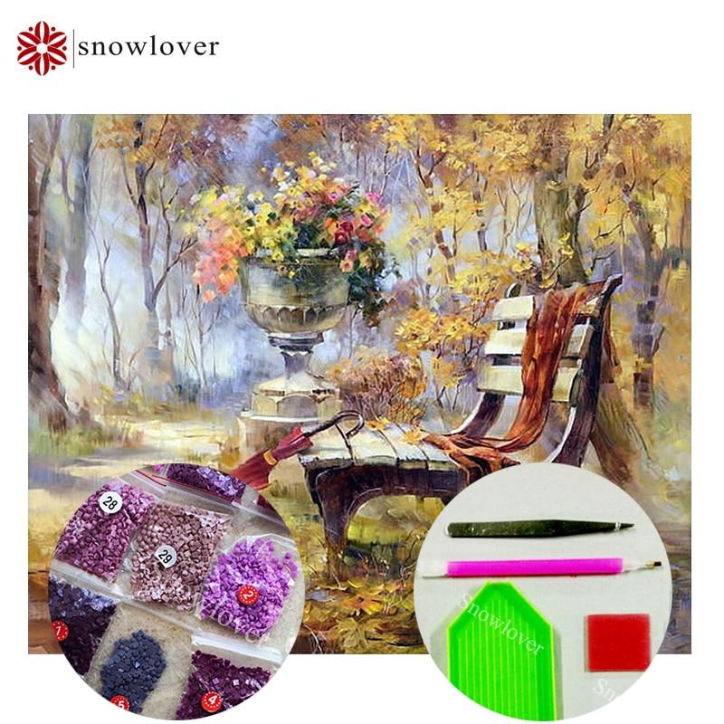 Snowlover,5D,full,DIY Diamond Embroidery,square,Diamond Painting,Cross Stitch,3D,Diamond,Mosaic,Needlework,Crafts,bench 21