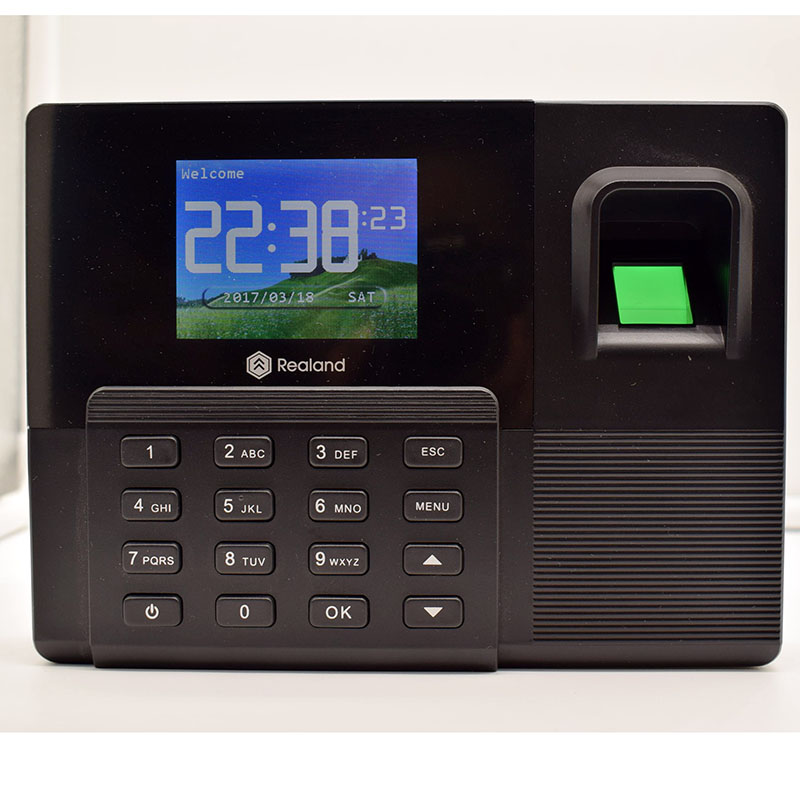 Realand A-F031B Rfid Access Control And TCP/IP USB Fingerprint Time Attendance Support Backup Battery Function zk multibio700 face access controller tcp ip usb face and fingerprint time attendance and door security access control system