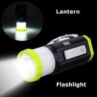 DC5V LED Flashlight Multifunction Rechargeable Hand Cranking Camping Tent Light Torch Lantern Lamp Emergency Lighting