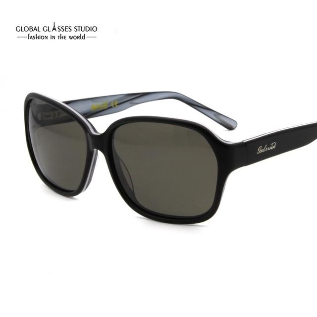 4cd08cfd68dda5 Gratis Verzending Nieuwe Aangekomen Fashion Zonnebril Vrouwen Hoge Kwaliteit  Acetaat Frame UV400 Bescherming Gepolariseerde Lens Rx Beschikbaar 1102