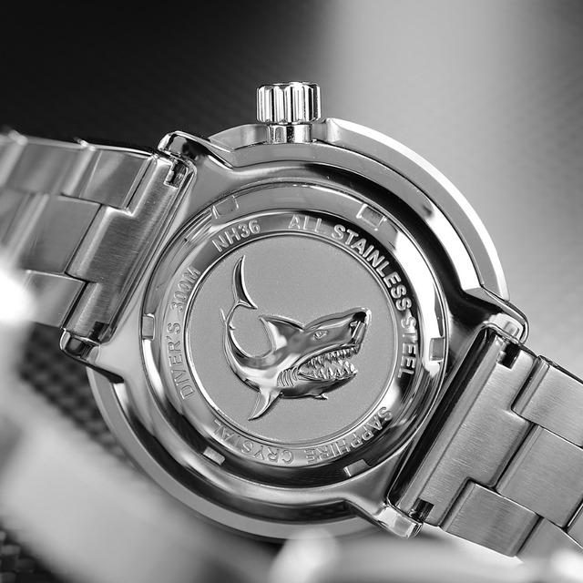 San Martin Tuna SBBN015 Men Fashion Watch Automatic Diving Sport Watch Stainlss Steel Watch 300m Water Resistant Ceramic bezel