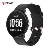 Fitness Activity Tracker IP67 Waterproof Smart Watch V11 Tempered Glass Heart Rate Monitor Men Women Clock Smart Watch