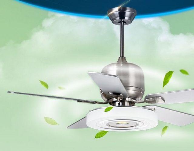 Livingroom ceiling fan 52inch bedroom modern silent fan lamp ...