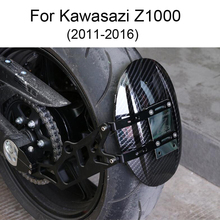 For Kawasaki Z1000 2010-2016 Rear Wheel Tire Fender Rear Fender Bracket Mudguard Splash Mud Dust Guard Fender Shield Carbon cnc aluminum carbon fiber rear mud guard panel fender mudguard for kawasaki z1000 z1000sx 2010 2011 2012 2013 2014 2015 2016