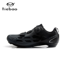 цена на Tiebao Men Cycling Shoes Road Bike Shoes Sapatilha Ciclismo Racing Spd Self-Locking Sneakers Breathable Triathlon Bicycle Shoes