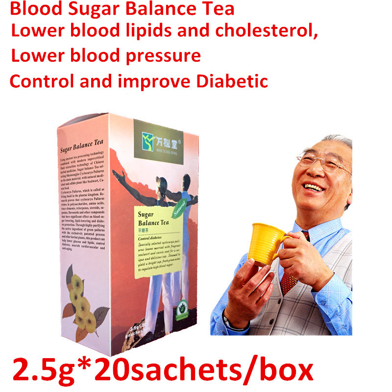 2boxes/40 teabag sugar balance tea blood sugar control diabetes cure Soften blood vessels diabetic tea 2015 tea vacuum pack cherry new wheat black tea yangsheng cha teabag professional manufacturers wholesale merchants oem