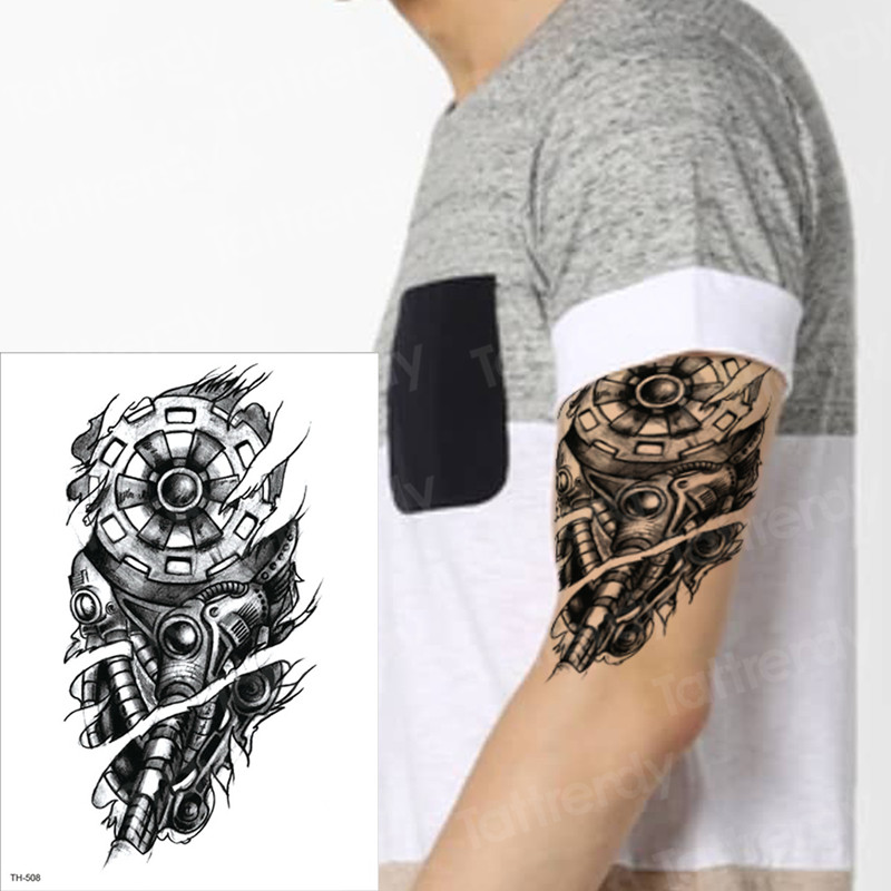 Us 111 30 Offmechanical Tattoos Temporary Tattoo Waterproof Machine Tatoo Halloween Sex Robot Machine Tattoo Boys Men Arm Tatoo Sleeves Tatto In