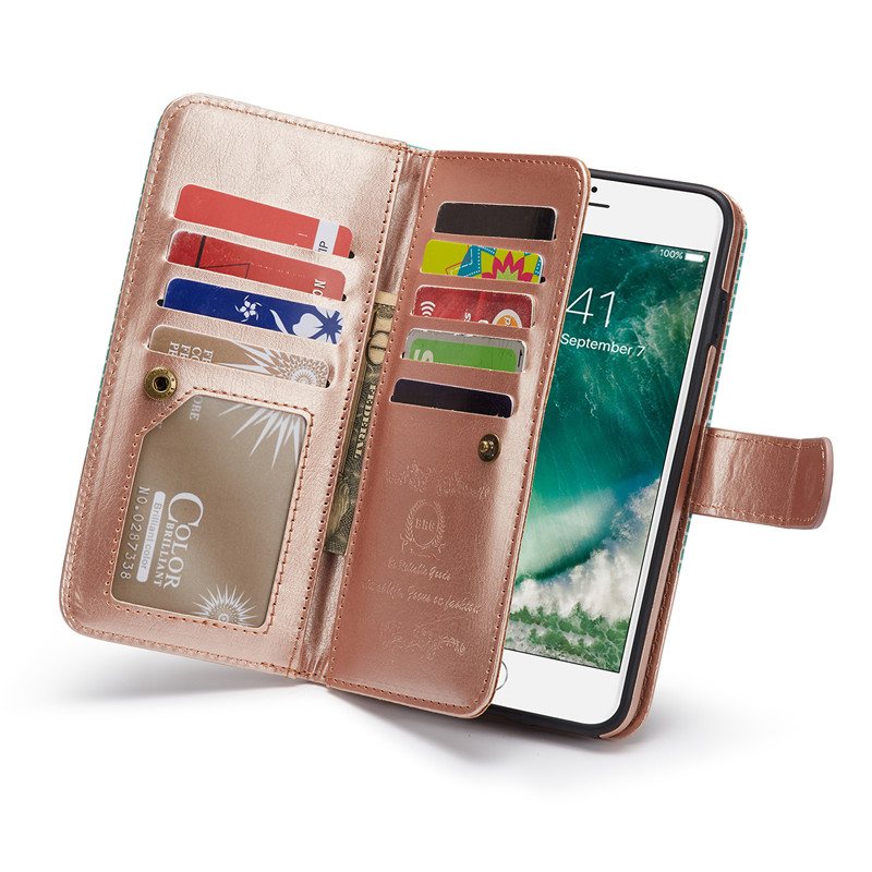 BRG For iPhone 8 plus Luxury Stripe Handbag PU Leather Wallet Case Cover For iPhone X 5  ...