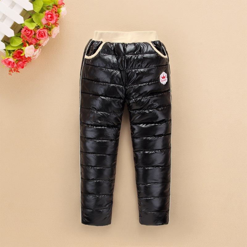 2017 Children pants kids school boy girl down trousers winter clothes waterproof snow ski pants 3-12Y child winter clothing