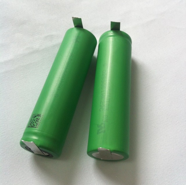 spot welded 18650 battery rechargeable for DIY project 1600mah 30A 18650 battery VTC3