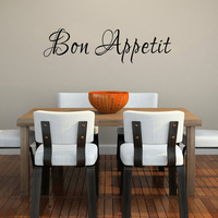 Kitchen Wall Decal Bon Appetit Vinyl Wall Art Quotes Dining Room Lettering 25 4cm X 91
