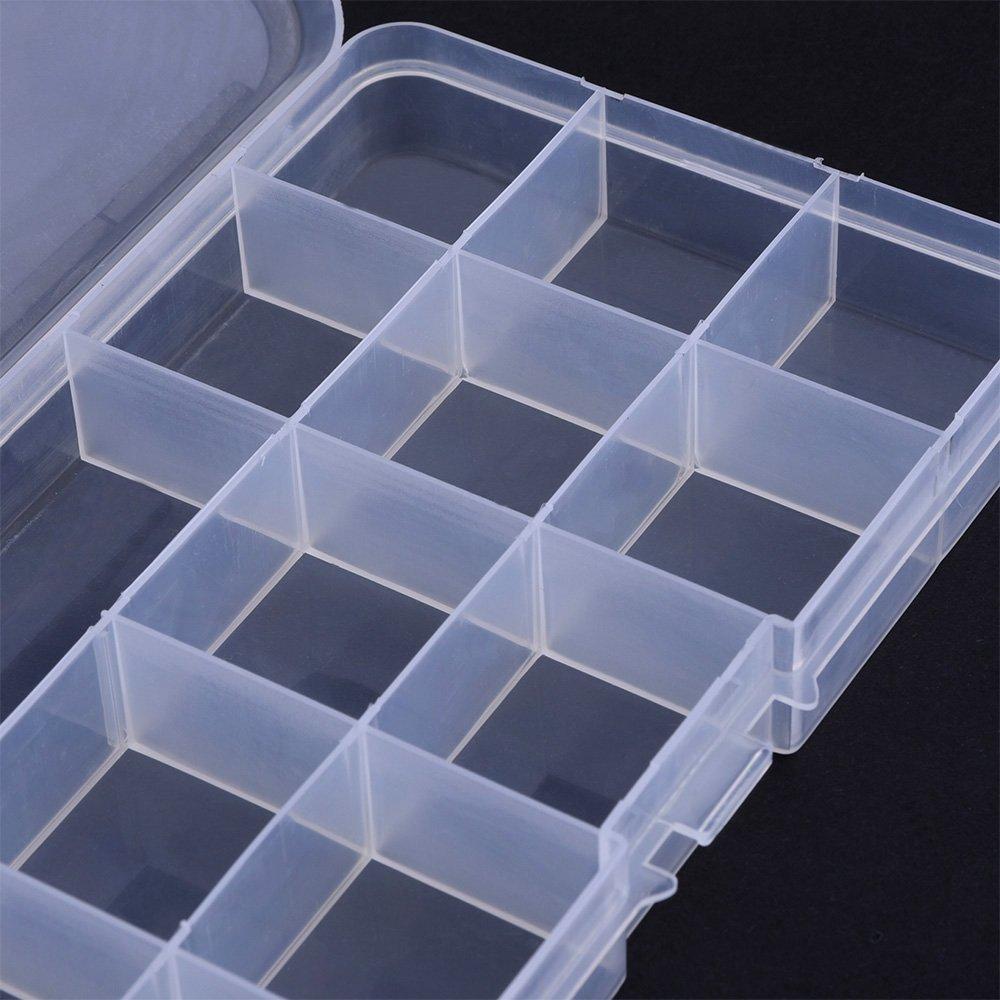 2pcslot 15 Clear Adjustable Jewelry Bead Organizer Box Storage