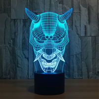 New Creative Led Touch Lamp Visual Overwatch 3D Wireless Bluetooth Speaker Night Light Color Change Led