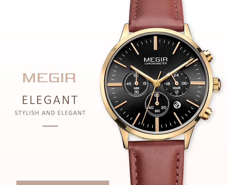 00eee7c1e83 MEGIR Relógio de Senhoras Amantes Do Esporte Da Forma de Luxo ...