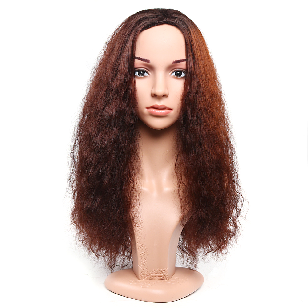 half natural wave curly wigs perruque synthetic women hair Wigs black red afro wig cheap for