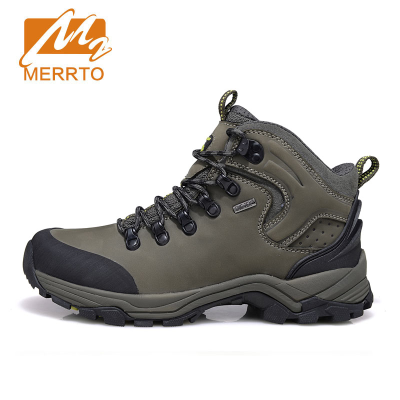 MERRTO Winter Men's Warm Hiking Shoes High Quality Trekking Sport Genuine Leather Outdoor Shoes Man Mountain Climbing Boots famous brand men s winter outdoor hiking trekking boots shoes for men warm leather climbing mountain hunting boots man quality