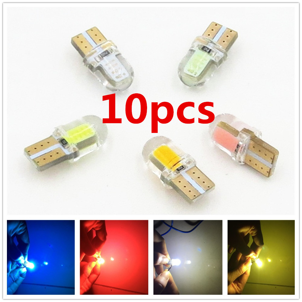 CYAN SOIL BAY 10X T10 SILICON Silicone COB LED Light W5W Wedge Bulb Interior 194 168 2825 Yellow White Red Blue Green Purple silicone jigsaw pattern cover creative notebook red white green purple