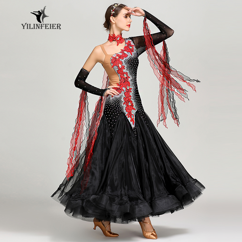 New Ballroom Dance Competition Dress Dance Ballroom Waltz Dresses Standard Dance Dress Women Ballroom Dress  S7022