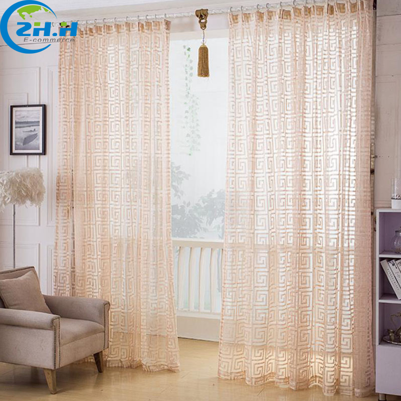 Hook Yarn Curtain Solid Pink Window Tulle Curtains Modern Treatments Decorative Room Divider Voile