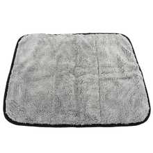 High Quality 45x38cm Super Thick Plush Car Microfiber Soft Cleaning Cloth Double Color Face Towel Drying Waxing Polish