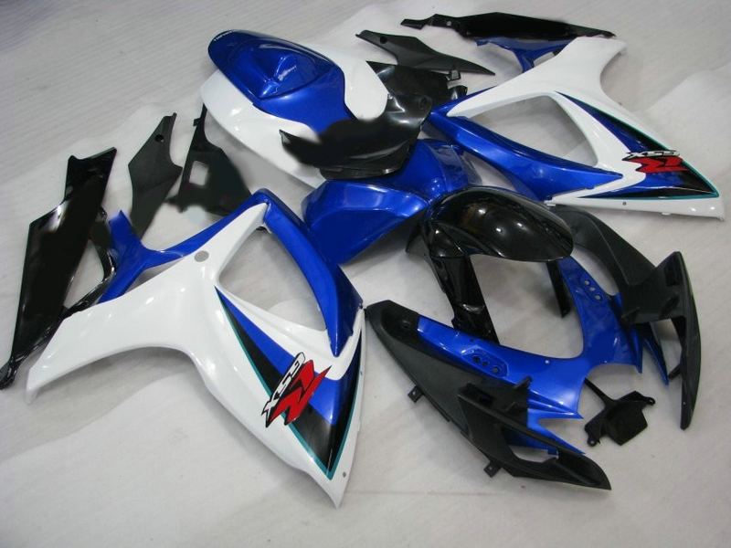 Customize for Suzuki GSXR 600 fairings GSXR 750 Fairing kit fairings 2006 2007 06 07 Blue white Fairings 7 gifts custom for 2007 suzuki gsxr 1000 fairings k7 k8 2008 gsxr 1000 fairing 07 08 glossy dark blue with white dr11