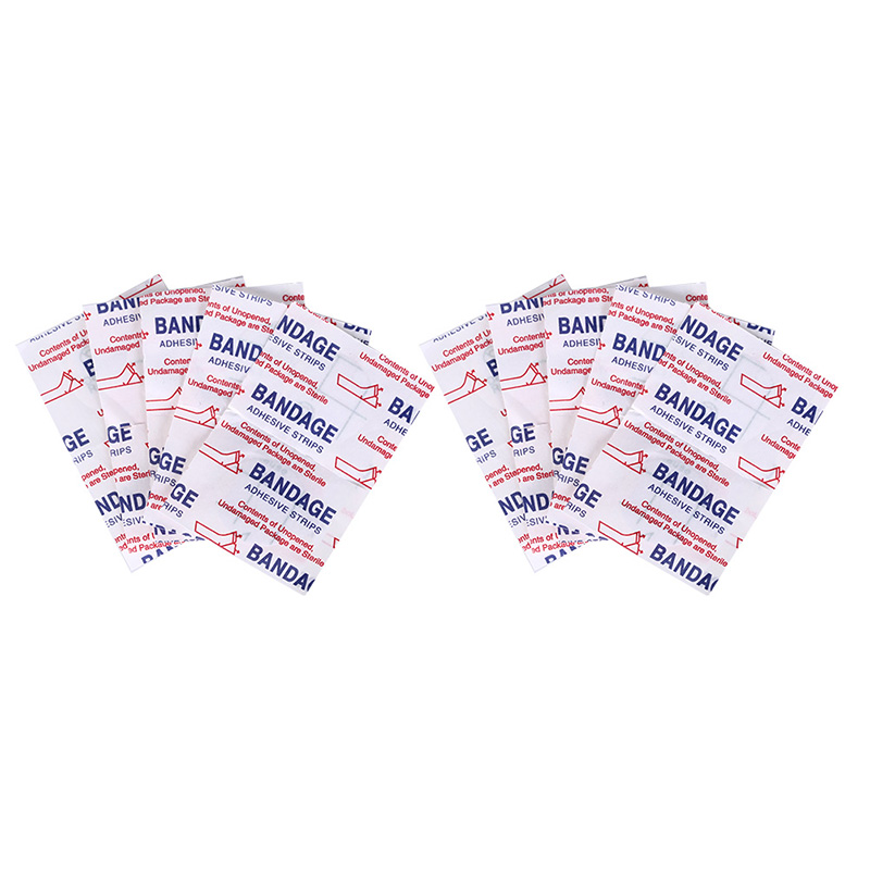 20pcs/pack Medical Waterproof Band Aid Braces Support Wound Dressings Paste Hemostatic Bandage First Aid Adhesive Sticker Rich And Magnificent Personal Health Care Health Care