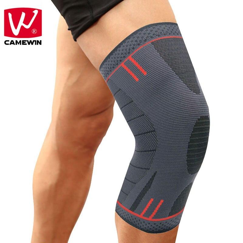CAMEWIN 1 PZ Knee Brace, Supporto del ginocchio per la Corsa, artrite, menisco Lacrima, sport, Sollievo Dal Dolore comune e Recupero Infortunio