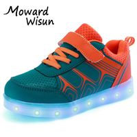 Good Quality Light Glowing Luminous Sneakers With Light Sole For Children USB LED Shoes Kids Boys