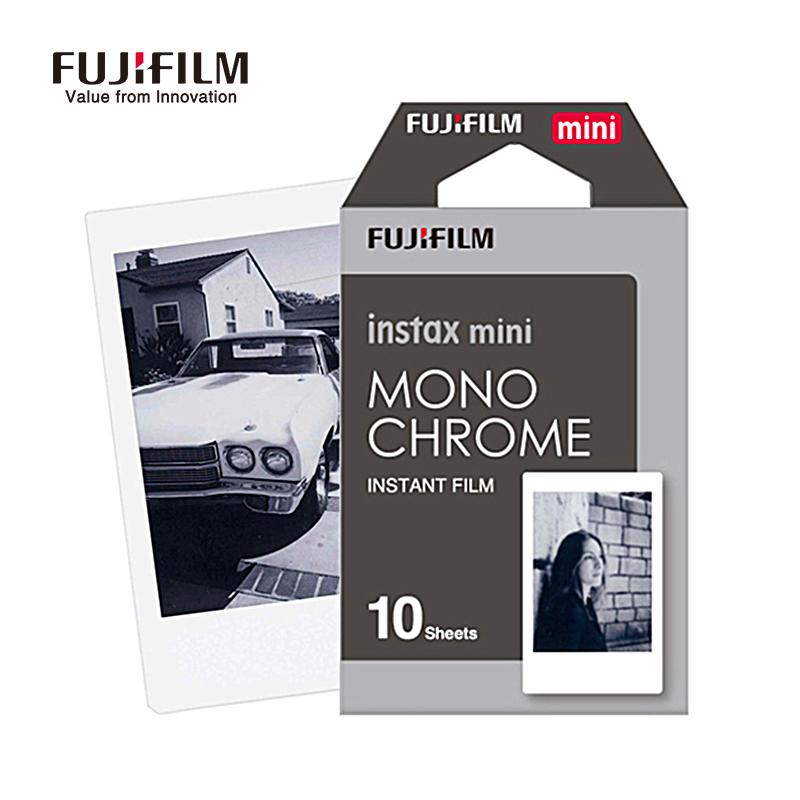 Prix pour Fuji fujifilm instax mini 8 film 10 feuilles noir et blanc photo instantanée caméra Papier Film pour Mini 8 7 s 25 50 s 90 Caméra