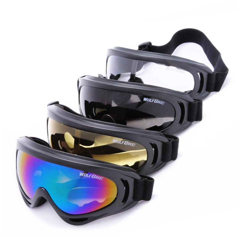 WOLFBIKE New Autumn Winter Windproof Cool Skiing Mirror Riding Glasses Motorcycle Goggles Glasses