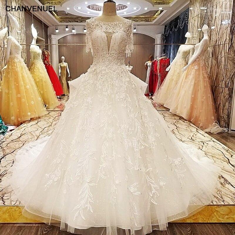 Princess Style Wedding Dress: LS7080 Princess Style Wedding Dress Beading Crystal Ball