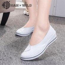 New Canvas Shoes Women Comforable Nurse Shoes Wedge Casual Shoes Female Platform