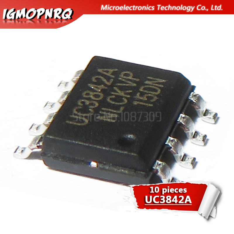 5PCS UC3842BD1R2G 3842B High Performance Current Mode Controllers SOP8