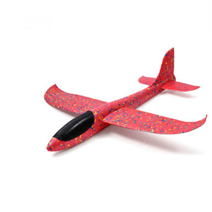 Image 3 - Kids Airplane Toy Hand Throwing Foam Plane Model 9 colors 35*35CM Outdoor Sports Planes Fun Toys For Kids Game Aircraft TY0369