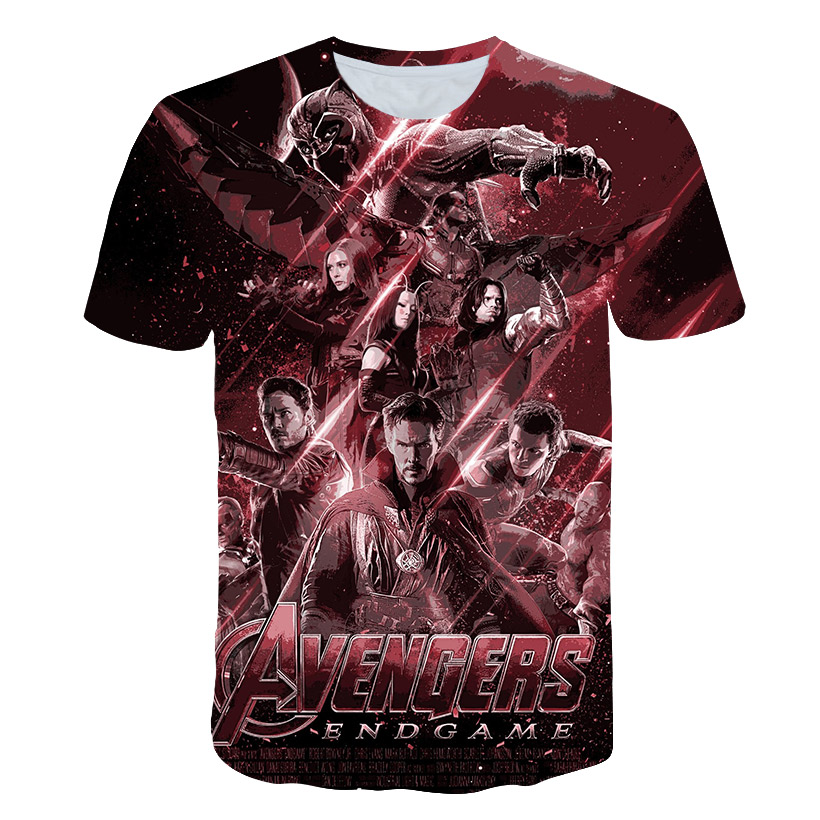 Captain Marvel Tshirt Endgame Summer Unisex Avengers Crew Neck Cotton Mens Stag