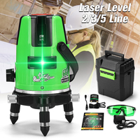 ZEAST 2/3/5 lines Green Light Line Laser Level for Broad Array Alignment Precise Measurement 360 Rotating Thickened Metal Alloy